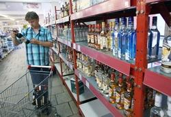 За январь-ноябрь 2013 года объемы продаж водки и ЛВИ в России упали на 6,8%