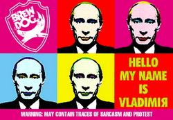 Шотландские пивовары сварили пиво Hello My Name is Vladimir, посвященное Владимиру Путину
