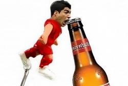 Китайские умельцы создали креативную открывалку бутылок в виде уругвайского футболиста Луиса Суареса