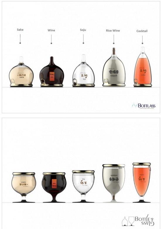 Корейские дизайнеры скрестили бутылку с бокалом botlass